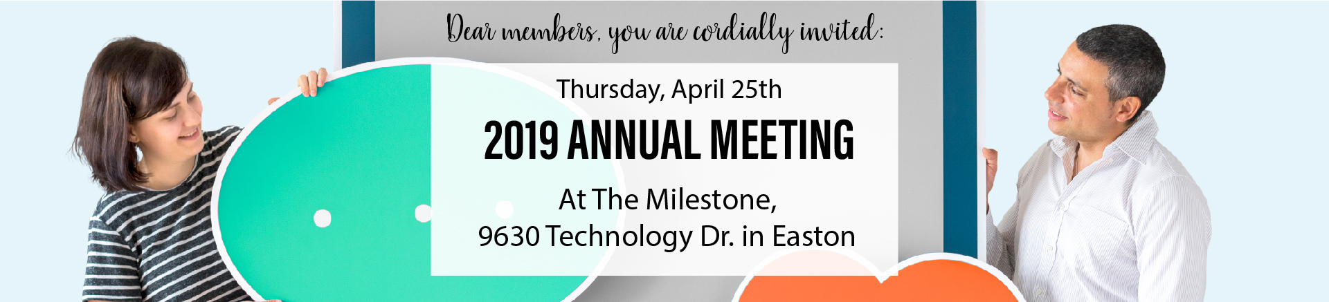 Come meet us at your Annual Meeting on April 25th at the Milestone in Easton, MD